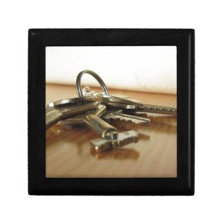 Boîte À Souvenirs Groupe de clés usées de maison sur la table en