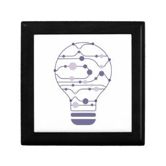 Boîte À Souvenirs Hexahedrons à l'intérieur d'ampoule d'idée