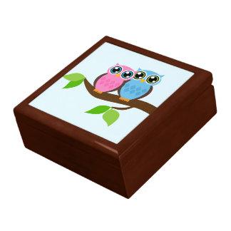 Boîte À Souvenirs Hiboux romantiques doux