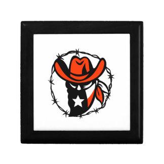 Boîte À Souvenirs Icône de fil de Barb de drapeau du Texas proscrite