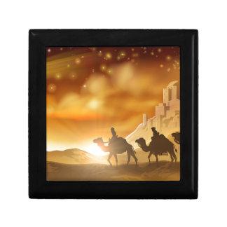 Boîte À Souvenirs Illustration de sages de Noël trois de nativité