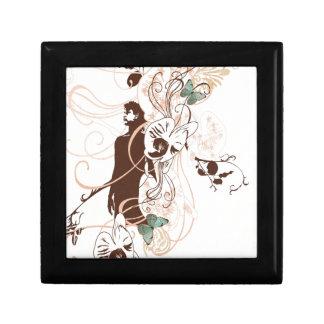 Boîte À Souvenirs Illustration d'une femme et des papillons