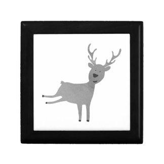 Boîte À Souvenirs Illustration grise de renne