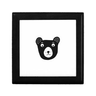 Boîte À Souvenirs Illustration noire et blanche mignonne d'ours