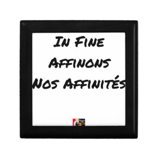 Boîte À Souvenirs IN FINE, AFFINONS NOS AFFINITÉS - Jeux de mots