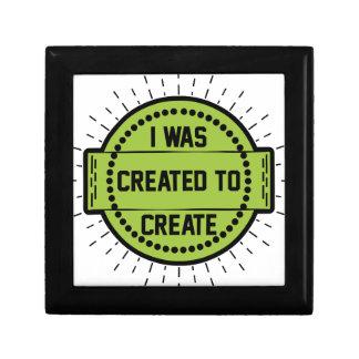 Boîte À Souvenirs J'ai été créé pour créer