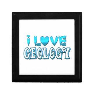 Boîte À Souvenirs J'aime la géologie