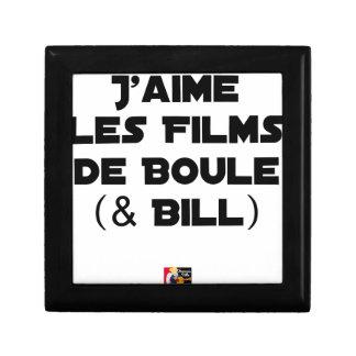 Boîte À Souvenirs J'aime les Films de Boule (& Bill) - Jeux de Mots