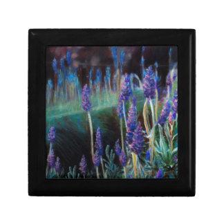 Boîte À Souvenirs Jardin par l'étang au crépuscule