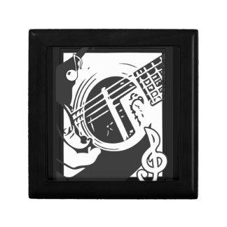 Boîte À Souvenirs Jeu de guitare de mélomane noir et blanc