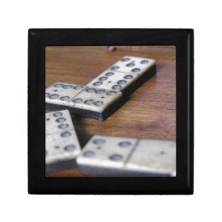 Boîte À Souvenirs Jeu vintage en bois de dominos de domino de
