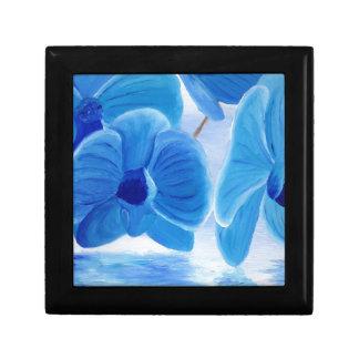 Boîte À Souvenirs Joie sophistiquée chique élégante d'orchidée bleue