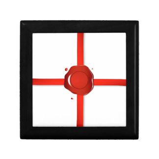 Boîte À Souvenirs Joint de cire et ruban rouge