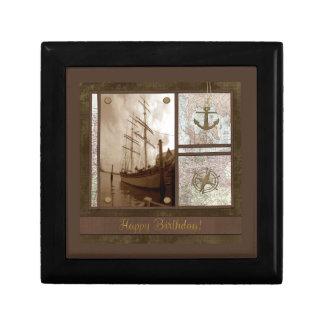 Boîte À Souvenirs Joyeux anniversaire, bateaux grands, ancre,