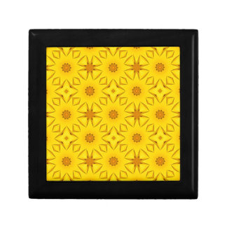 Boîte À Souvenirs Kaléidoscope des tournesols, jaune lumineux