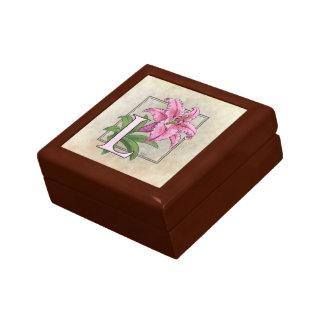 Boîte À Souvenirs L pour le monogramme de fleur de lis