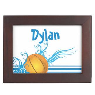Boîte À Souvenirs La boule de basket-ball folâtre le nom