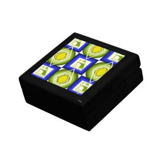 Boîte À Souvenirs La grenouille modèle les diamants carrés de bleu