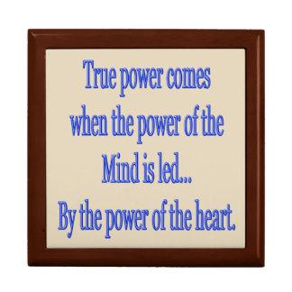 Boîte À Souvenirs La puissance vraie vient quand….