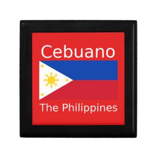 Boîte À Souvenirs Langue de Cebuano et drapeau de Philippines