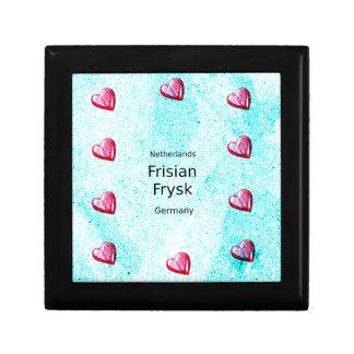 Boîte À Souvenirs Langue de Frisian (l'Allemagne et le Pays-Bas)