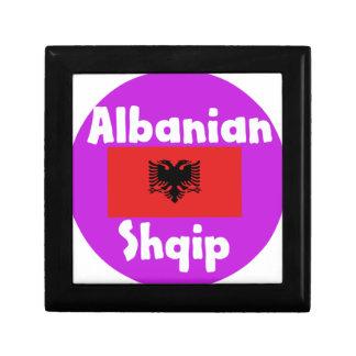 Boîte À Souvenirs Langue de l'Albanie et conception de drapeau