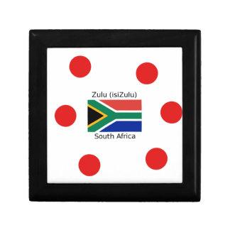 Boîte À Souvenirs Langue de zoulou (isiZulu) et drapeau de l'Afrique