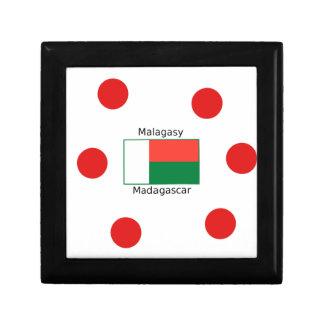 Boîte À Souvenirs Langue et conception malgaches de drapeau du