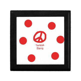 Boîte À Souvenirs Langue et conception turques de symbole de paix