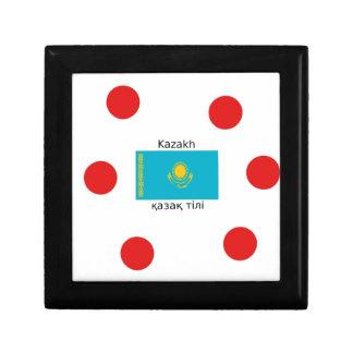 Boîte À Souvenirs Langue kazakh et conception de drapeau de