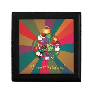 Boîte À Souvenirs L'arbre de Noël ornemente le collage coloré