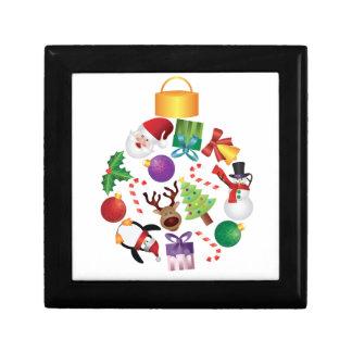 Boîte À Souvenirs L'arbre de Noël ornemente l'illustration de