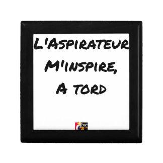 Boîte À Souvenirs L'ASPIRATEUR M'INSPIRE À TORT - Jeux de mots