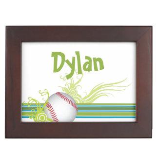 Boîte À Souvenirs Le base-ball folâtre le nom personnalisé de jeu de