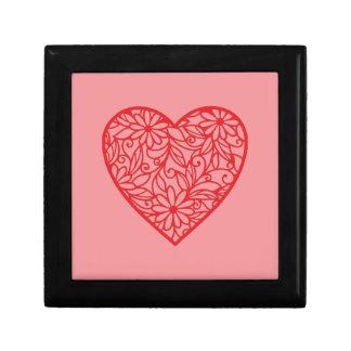 Boîte À Souvenirs Le coeur rouge de Valentine