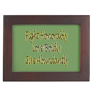 Boîte À Souvenirs Le combat honorablement, aiment hardiment, donnent