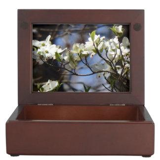 Boîte À Souvenirs Le cornouiller élégant fleurit boîte de souvenir