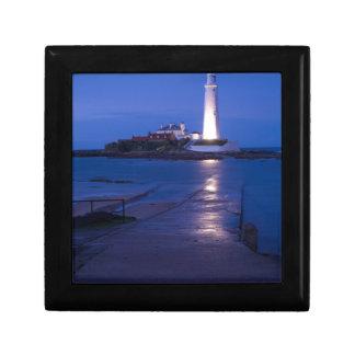 Boîte À Souvenirs Le phare de Mary de saint à la baie de Whitley