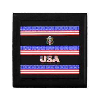Boîte À Souvenirs Les Etats-Unis barrent le drapeau