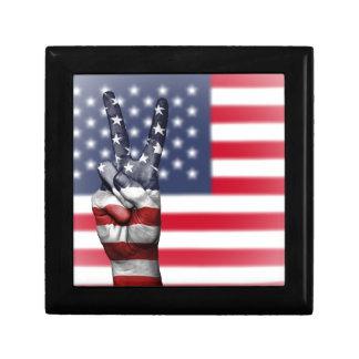 Boîte À Souvenirs Les Etats-Unis Etats-Unis nous nation de main de