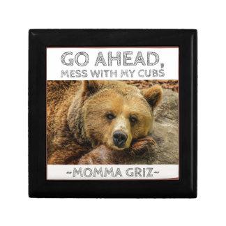 Boîte À Souvenirs Les mamans Griz d'ours de mamans vont en avant