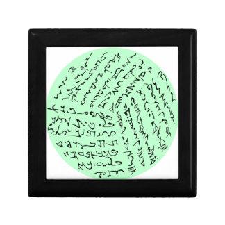 Boîte À Souvenirs les mots sont magiques (le vert en bon état)