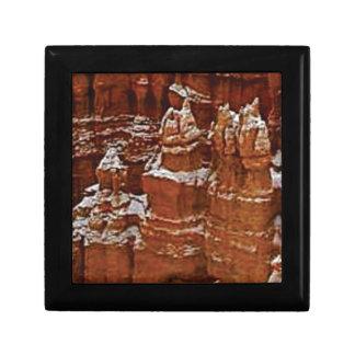 Boîte À Souvenirs les tours dans les roches se bronzent
