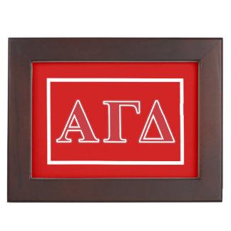Boîte À Souvenirs Lettres blanches et vertes d'alpha delta gamma