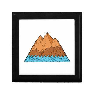Boîte À Souvenirs Ligne mono en lambeaux de vagues de montagne