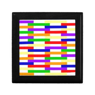 Boîte À Souvenirs Ligne multicolore conception