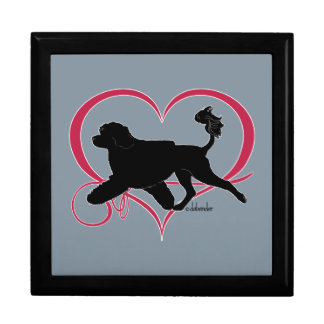 Boîte À Souvenirs Lion portugais de coeur de chien d'eau