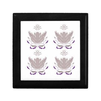 Boîte À Souvenirs Lotus gris sur le blanc