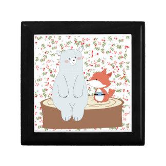 Boîte À Souvenirs Loup mignon vintage de renard d'été de ressort et