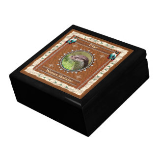 Boîte À Souvenirs Loutre - boîte-cadeau en bois de médecine de femme